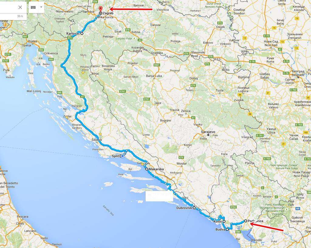 New Bus Route From Podgorica To Dubrovnik Split And Zagreb
