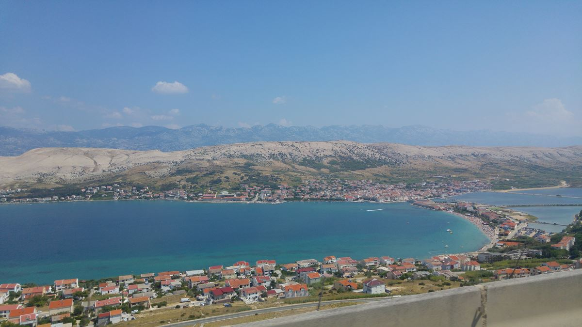 Beautiful view on Pag town