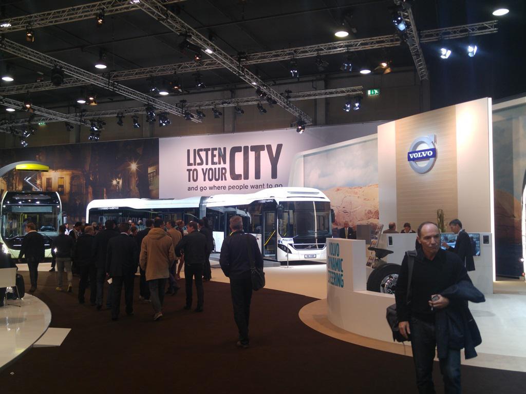 Volvov izlagački prostor na autobusnom sajmu u Kortrijk