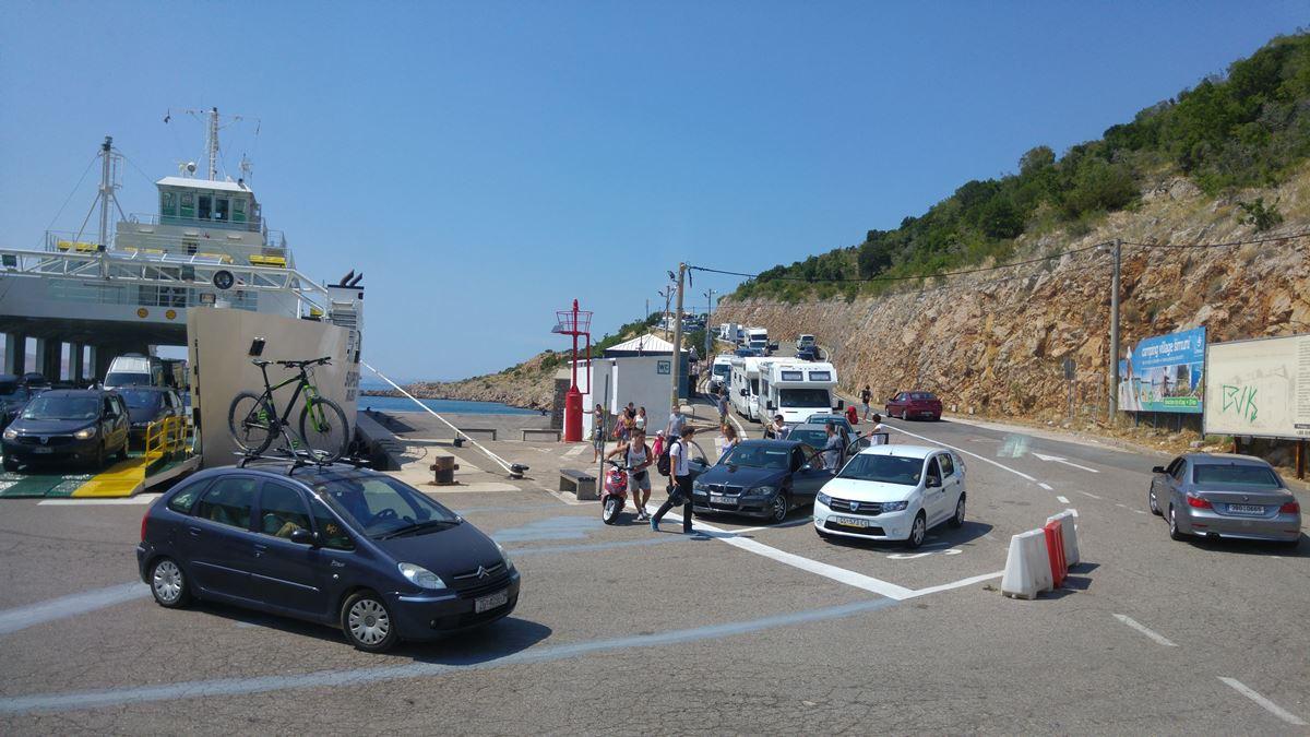 ferry port in Prizna