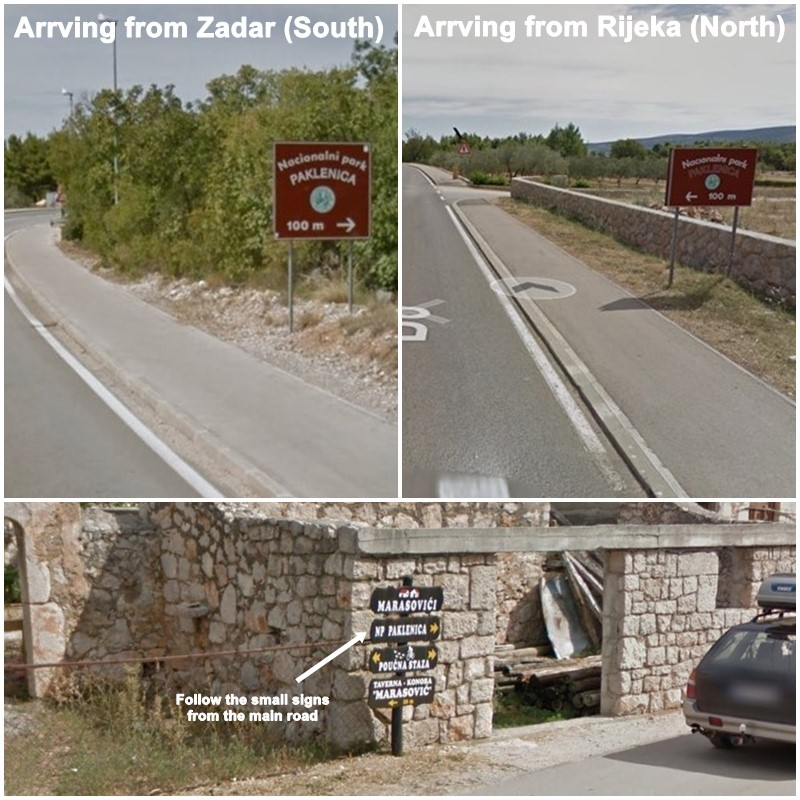 Paklenica-arrival-by-car