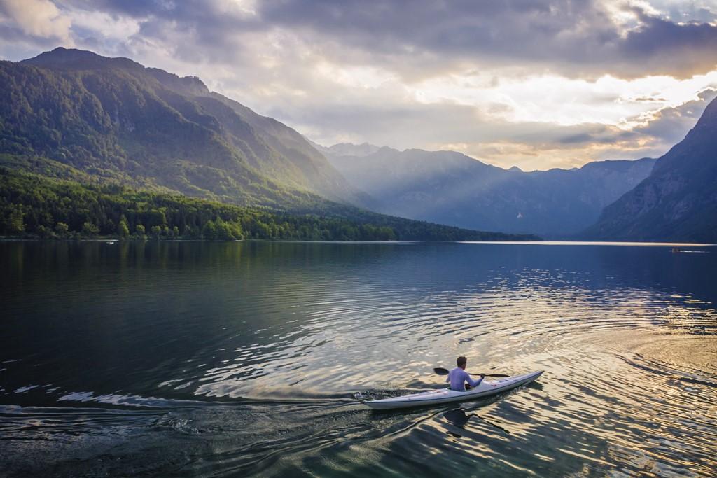 Kayak auf Bohinj See