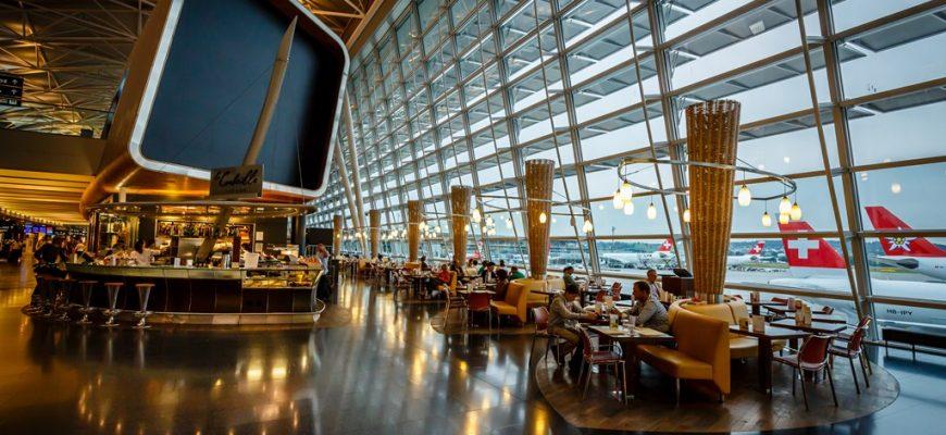 Airport Zurich terminal building