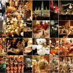 Christmas decorations on the market in Vienna
