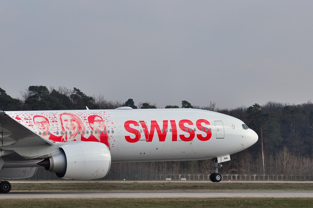 Swiss airlines takeoff