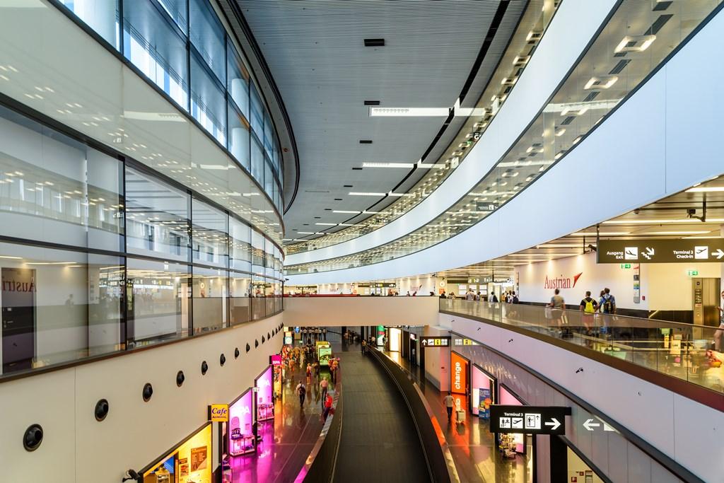 Airport Vienna inside Terminal