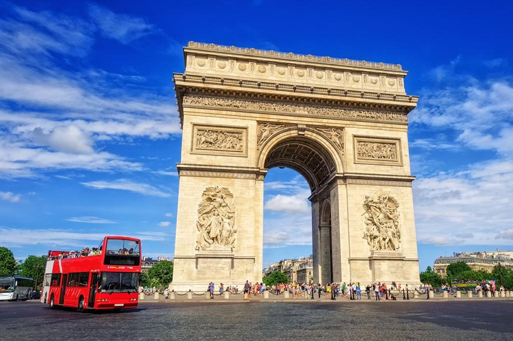 The Triumphal Arch, Paris, France