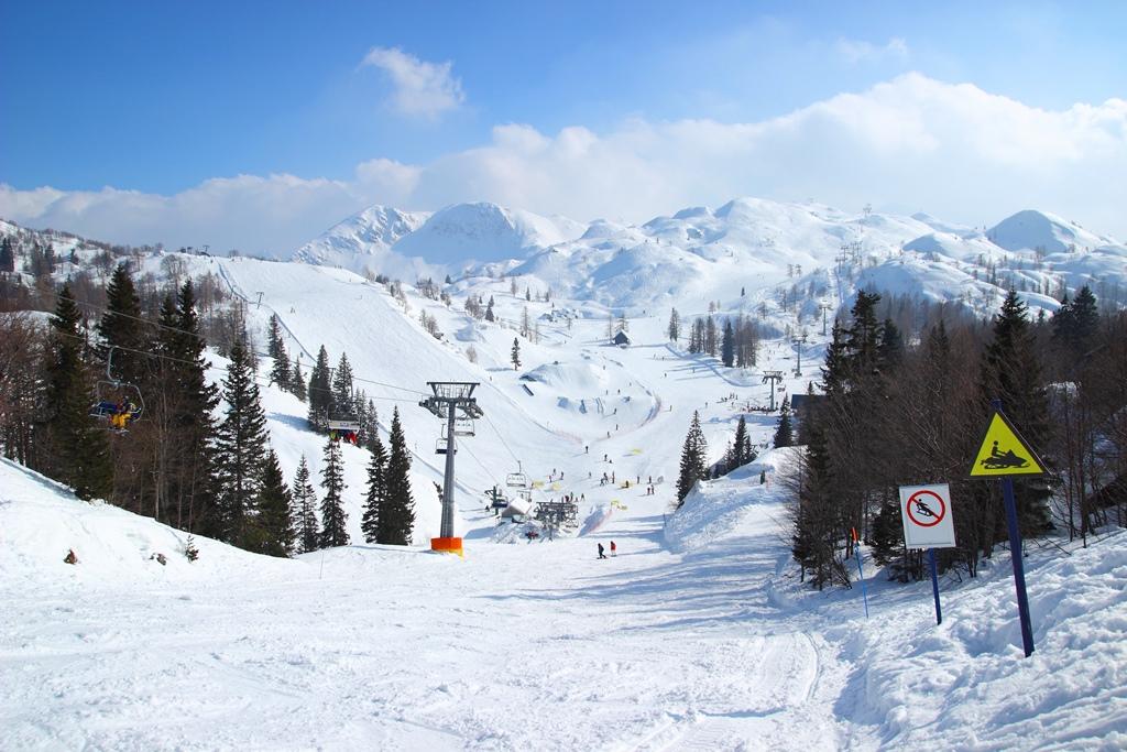 Ski resort Vogel in Slovenia