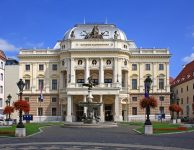 The old Slovak National Theatre building in Neo-Renaissance style