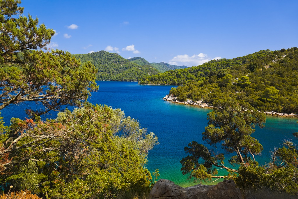 Lake at island Mljet in Croatia - nature background