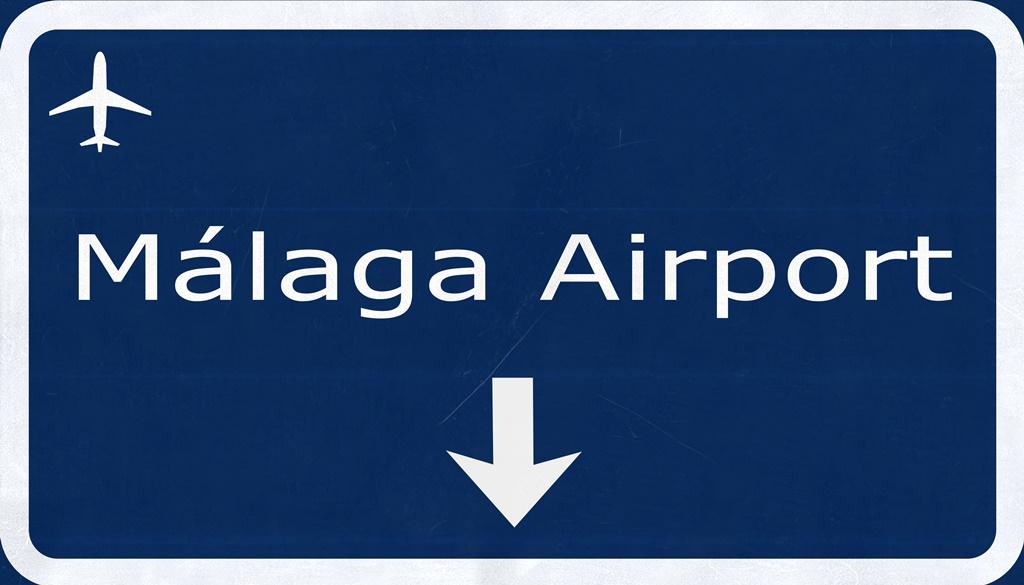 malaga airport sign