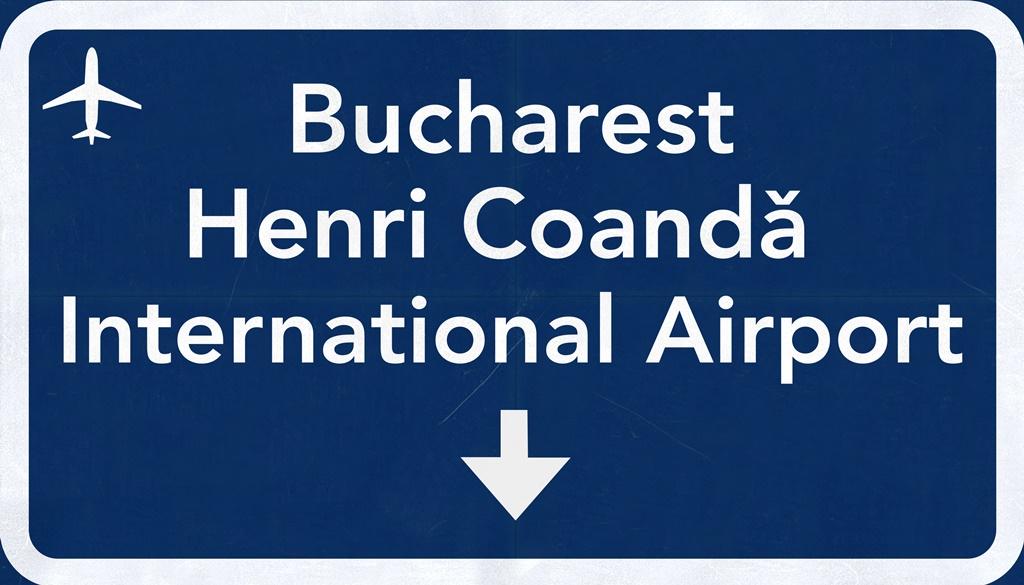 bucharest airport sign
