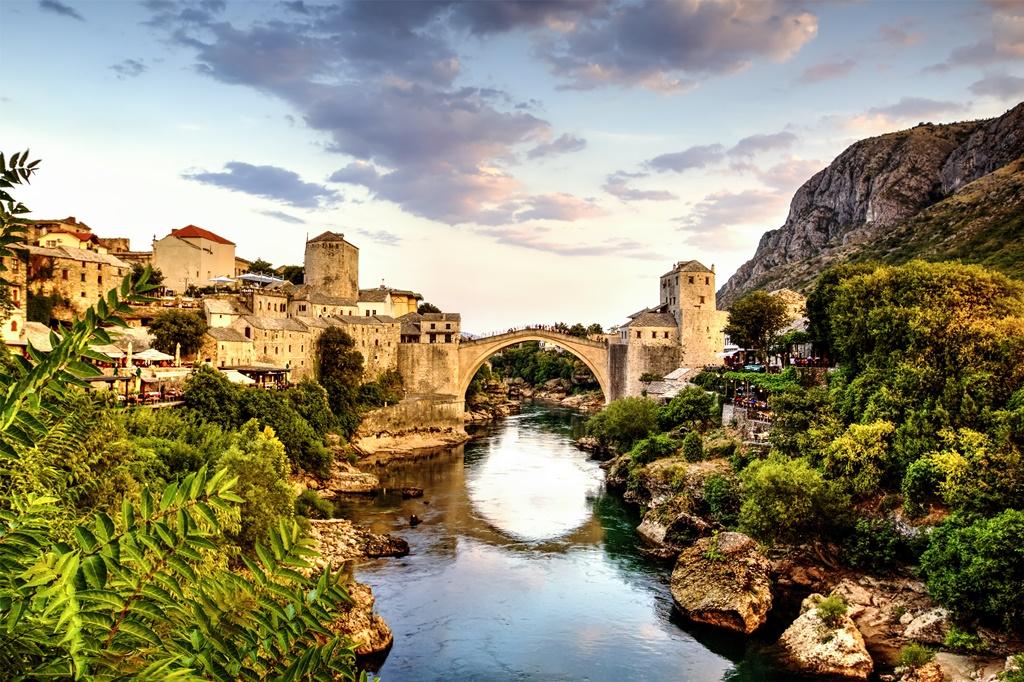 Mostar bridge, Bosnia & Herzegovina.