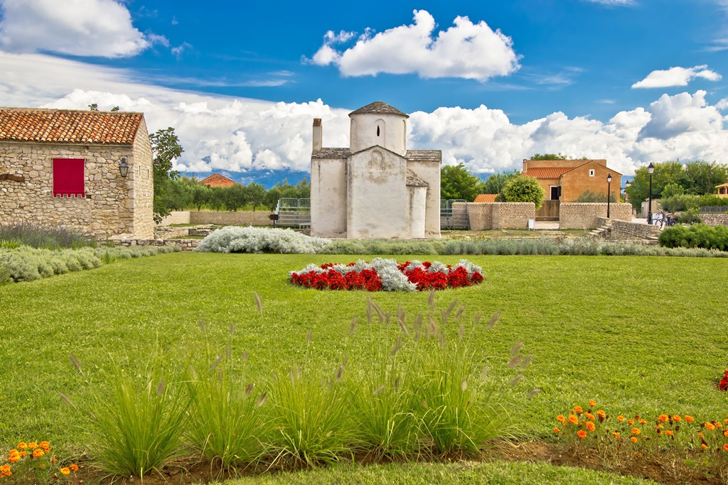 Small cathedral in Town of Nin, Dalmatia, Croatia