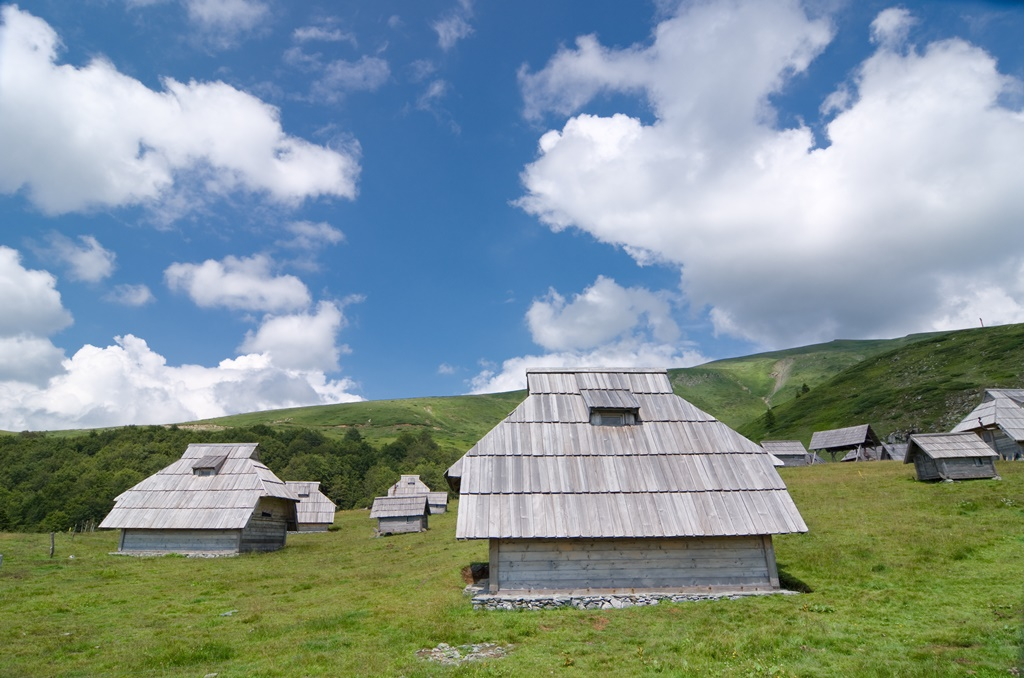"wooden lodge in ""Biogradska Gora"" National Park, Montenegro"