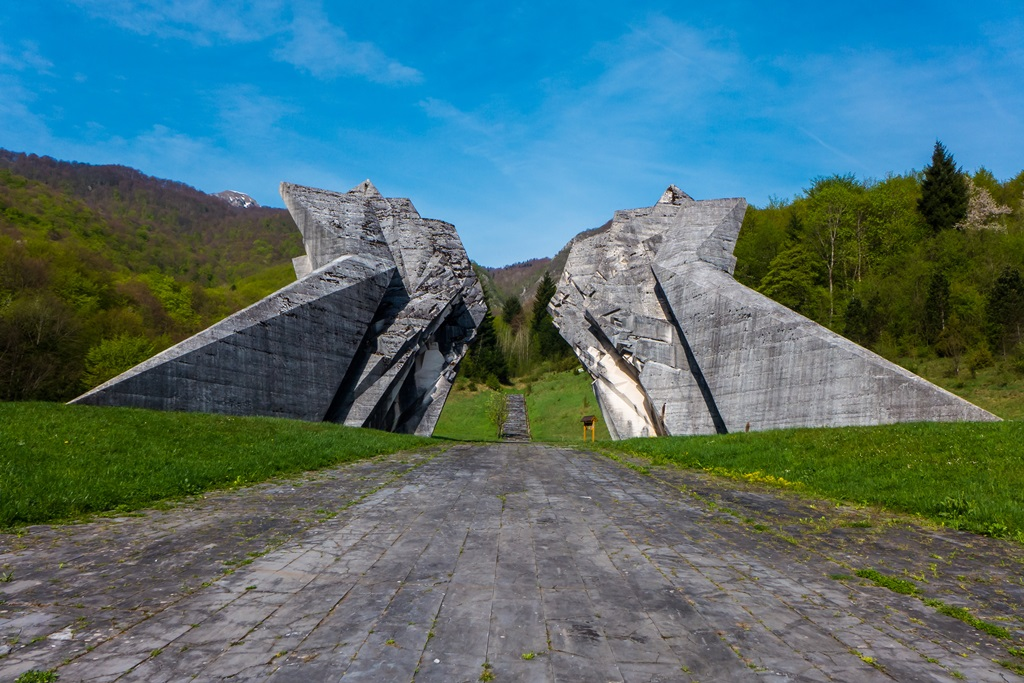 Sutjeska WW2 monument in Bosnia and Herzegovina