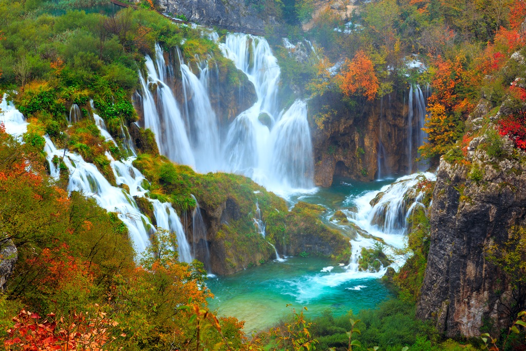 The waterfalls of Plitvice National Park