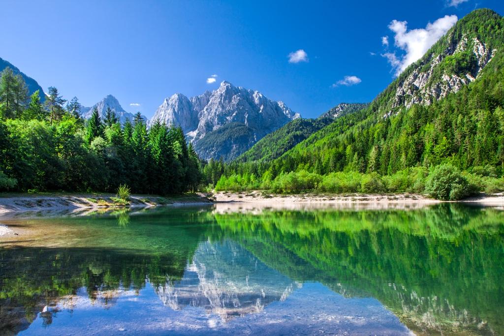 Valley in the Triglav National Park, Julian Alps, Slovenia