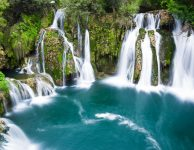Waterfalls of Martin Brod on Una national park, Bosnia and Herzegovina