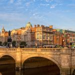 Sunset over Dublin - Republic of Ireland