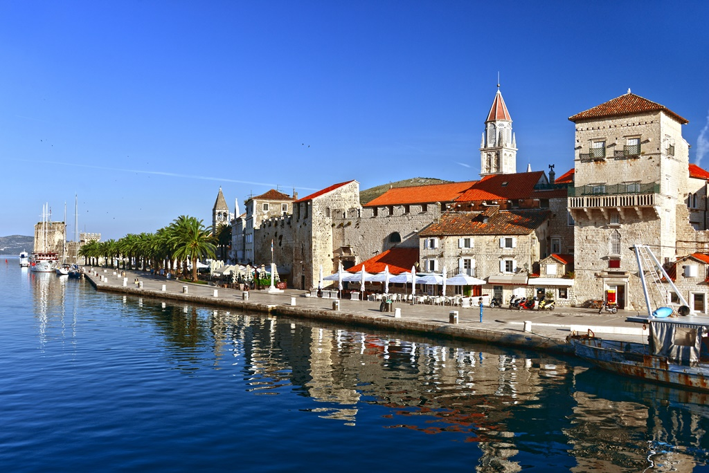 Old town of Trogir in Dalmatia, Croatia on Adriatic coast.