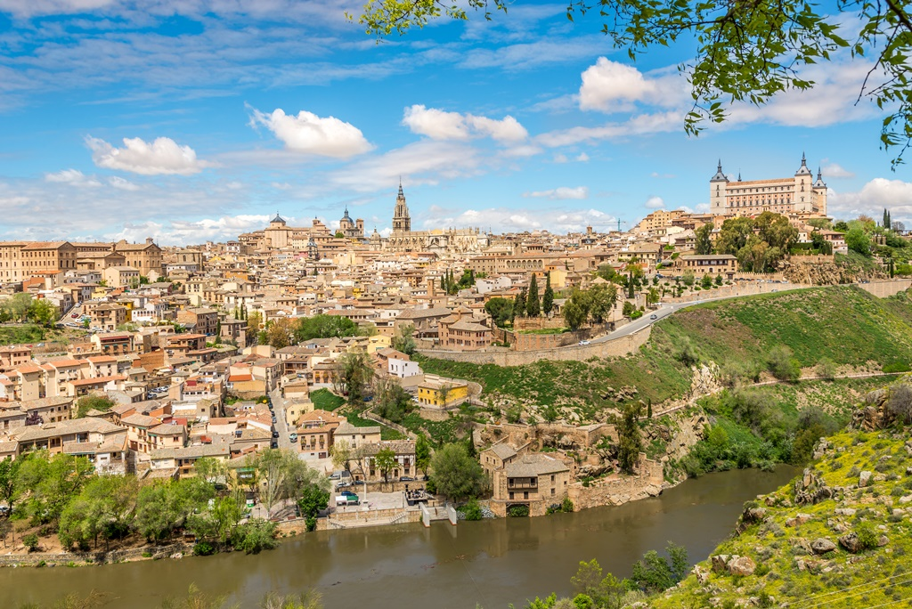 View at the Toledo old Town with Tajo river - Spain