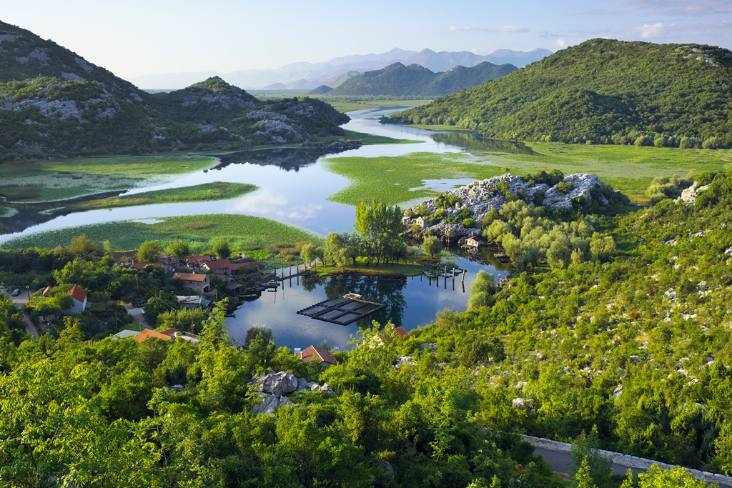 Karuc Bay in Lake Skadar National Park, Montenegro