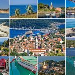Island of Losinj tourist destination collage postcard, Croatia