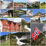 Photo collage from Norway. Collage includes major landmarks like the Naeroyfjord, Lysefjord and architecture of Bergen.
