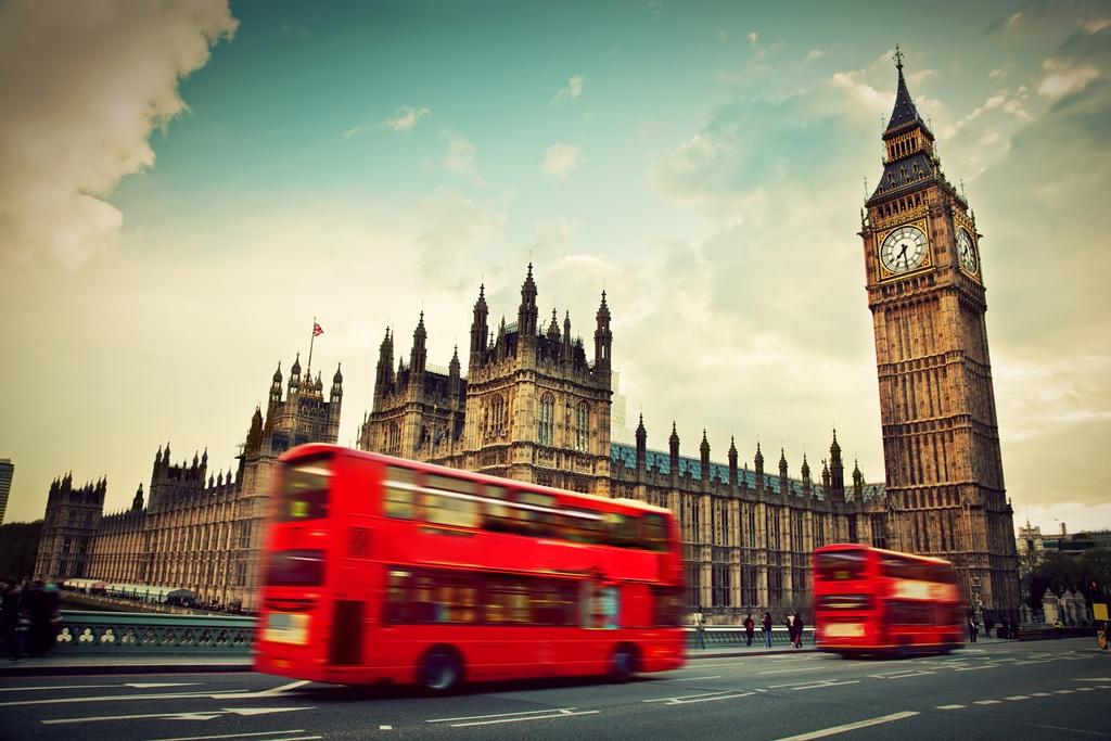 Londra, Regno Unito. Autobus rosso