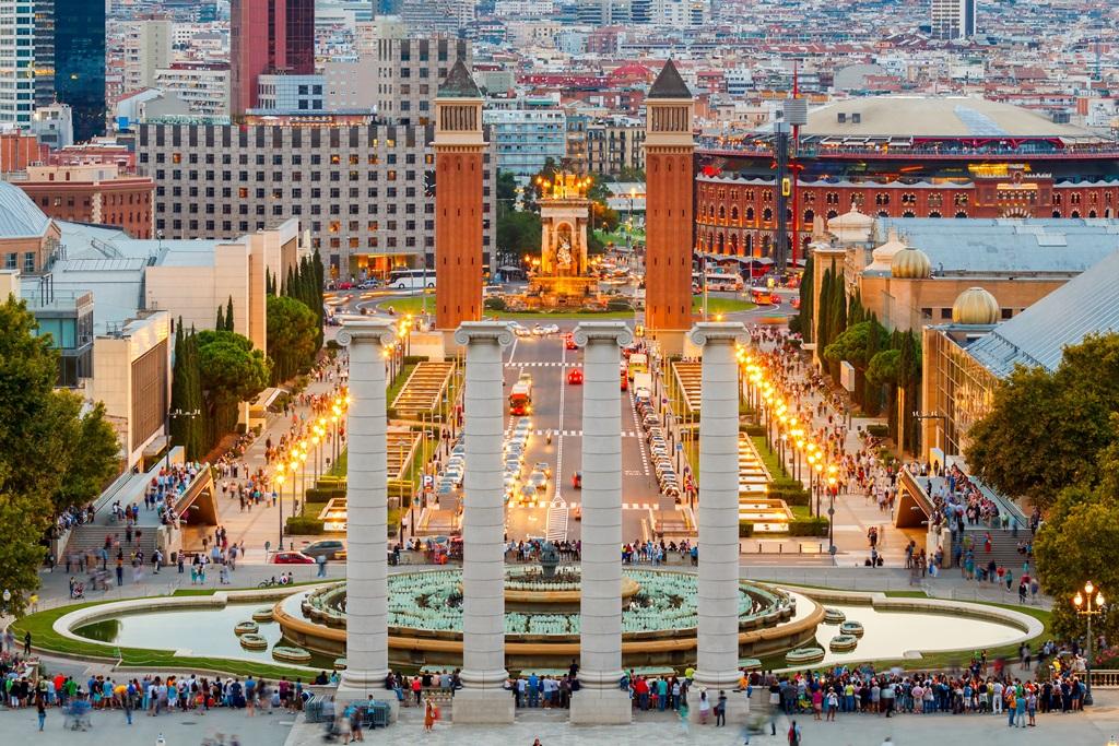 Magic Fountain in Barcelona.