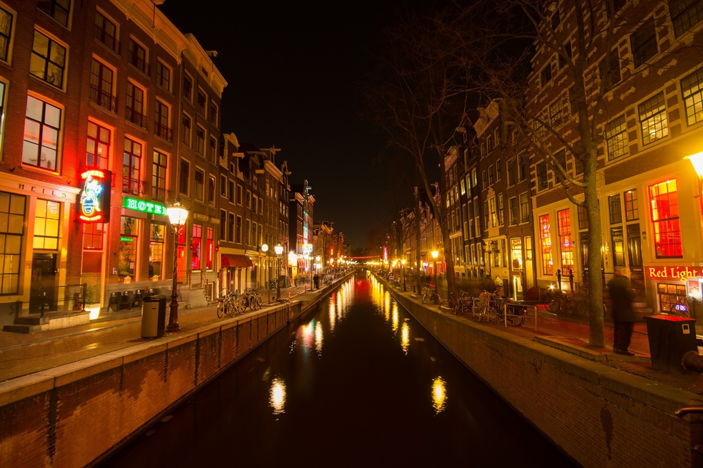 Quartiere a luci rosse