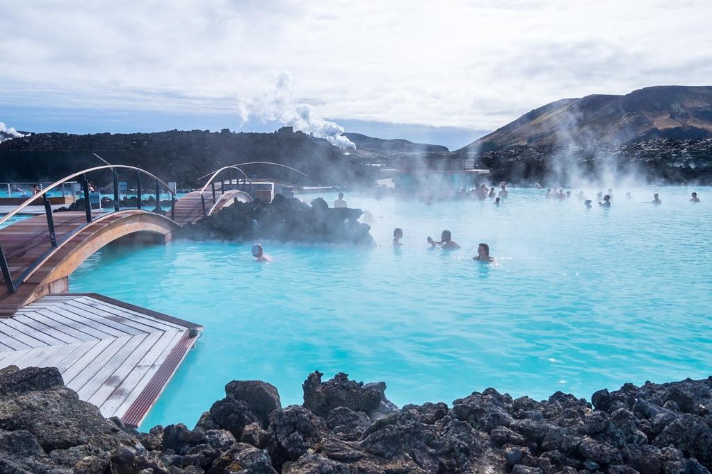 Geothermische baden in IJsland
