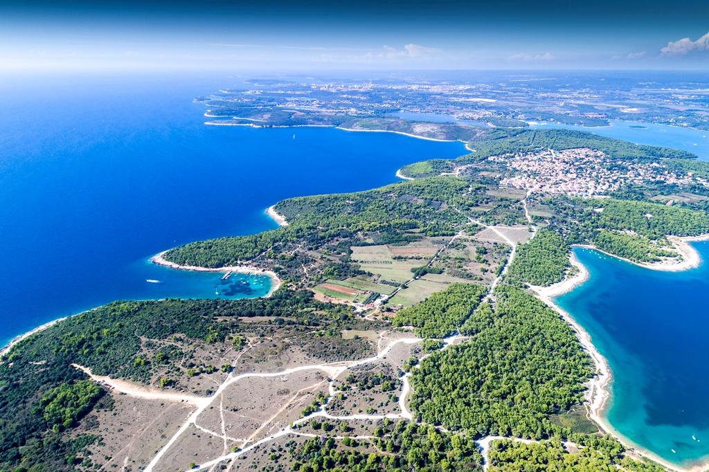 Aerial view of Cape Kamenjak