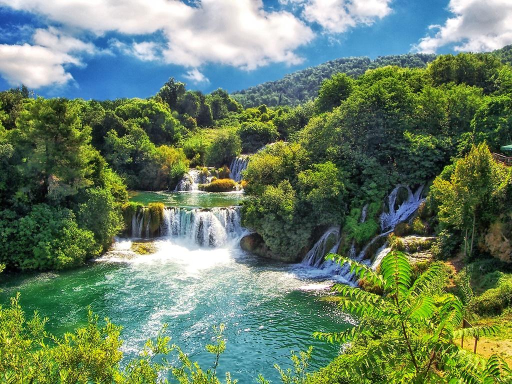 Watervallen Kroatie - Krka