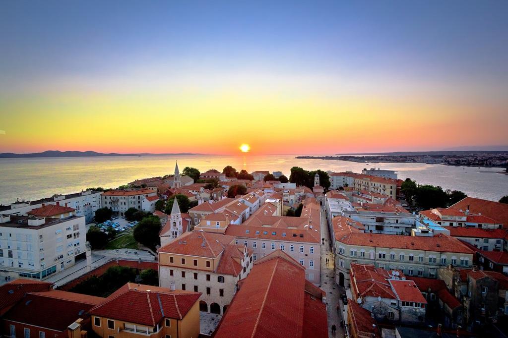 Zadar zonsondergang