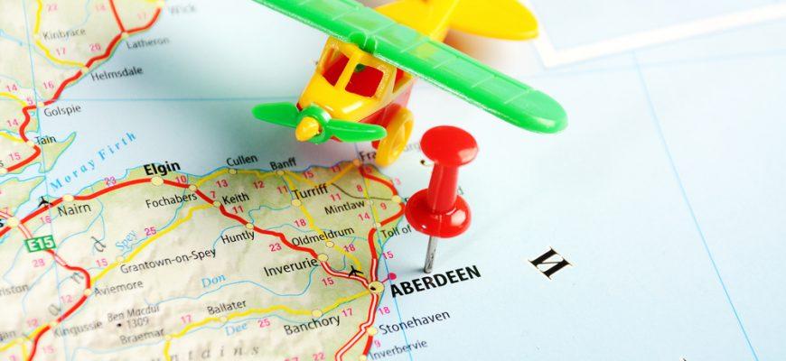 Aberdeen Airport - Map concept shot