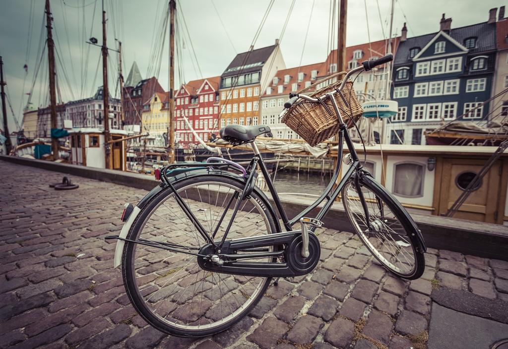 Bicycle in Nyhavn, Copenhagen