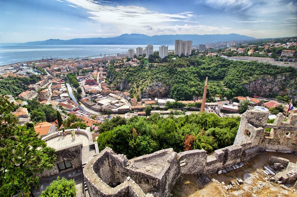 Croatia sights: View from Trsat Castle, Rijeka