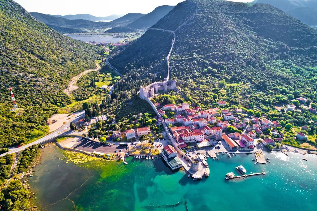 Croatia sights: Ston Walls