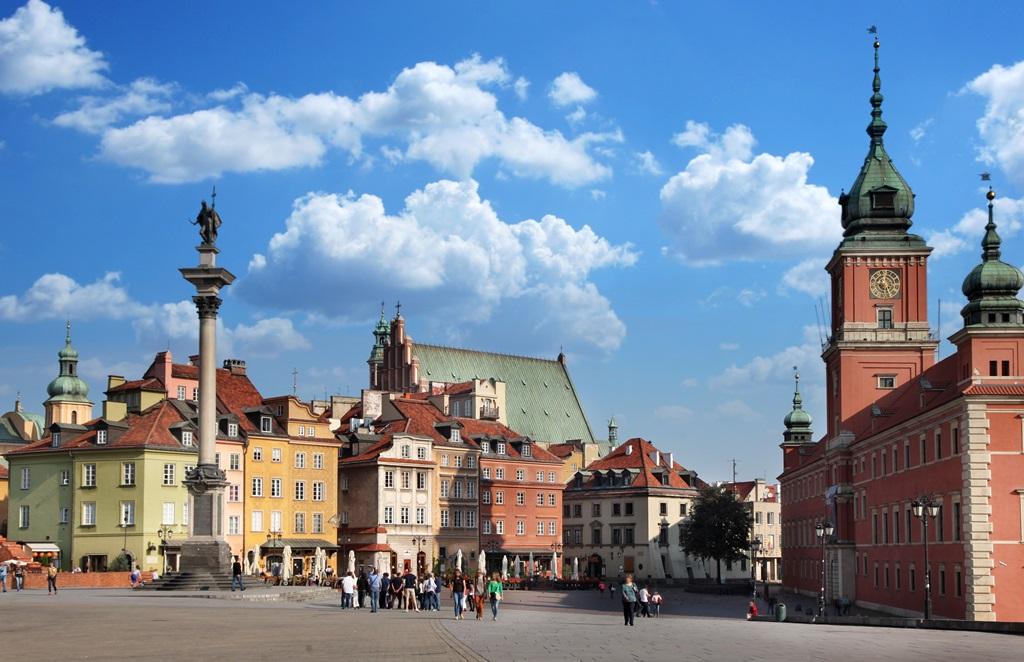 Hradní náměstí ve Varšavě