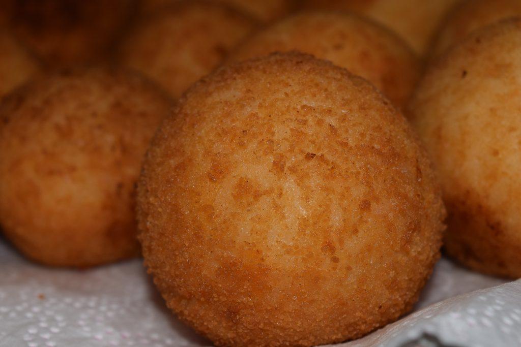 Arancini - deep fried rice balls