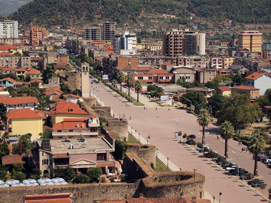 Widok na Elbasan