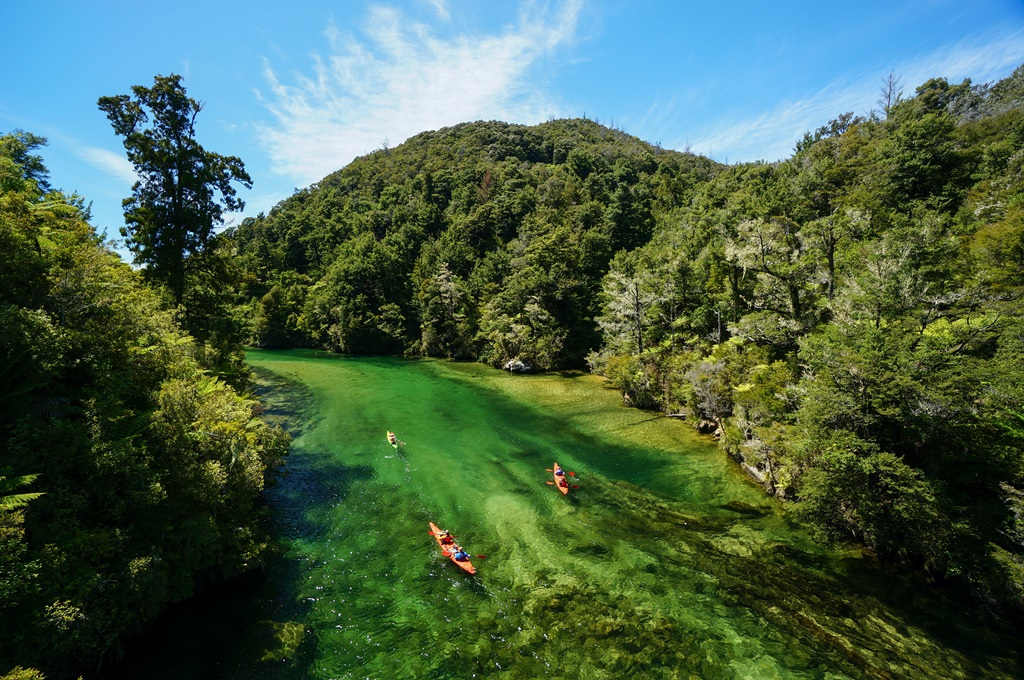 Kayaking on Falls River, Abel Tasman National Park, New Zealand