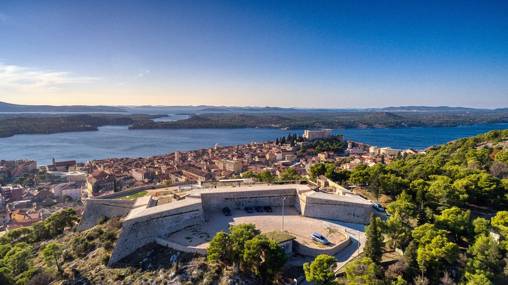 The view from Sibenik on its islands