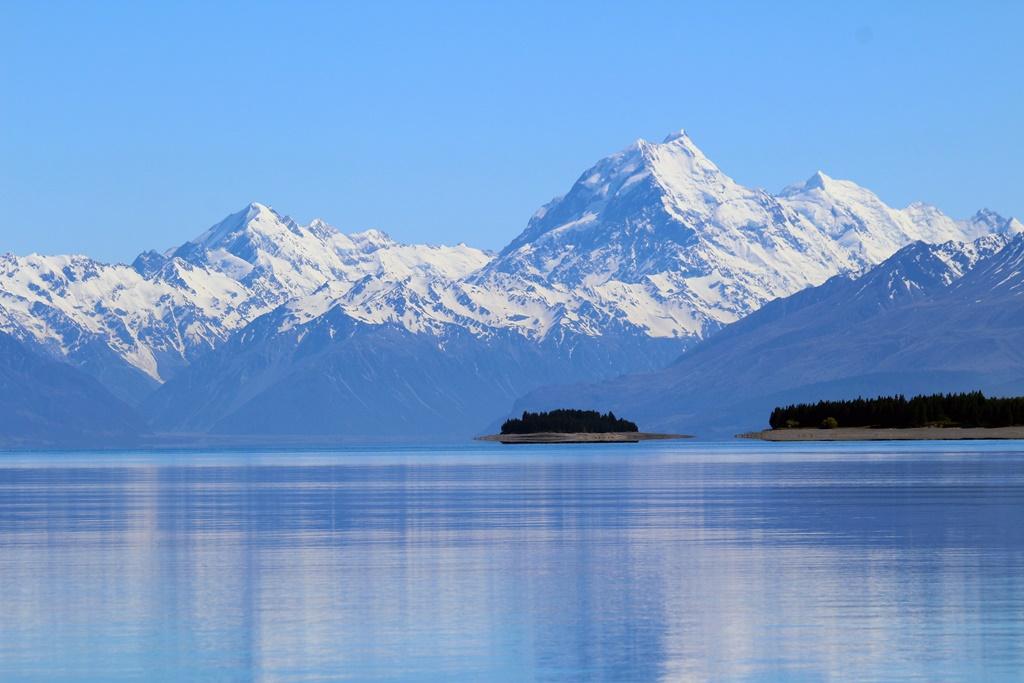 View of Aoraki/Mount Cook from Lake Pukaki