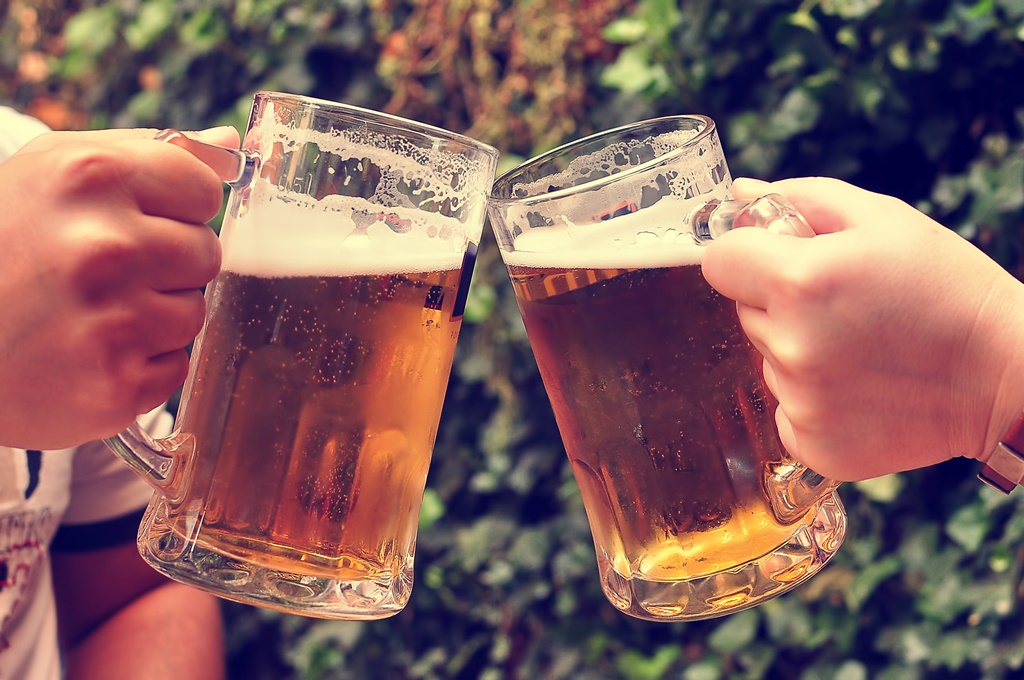 Cheers with beers