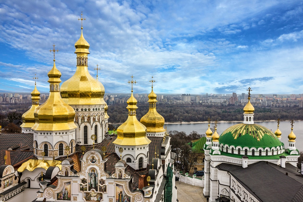 Golden domes of Kyiv