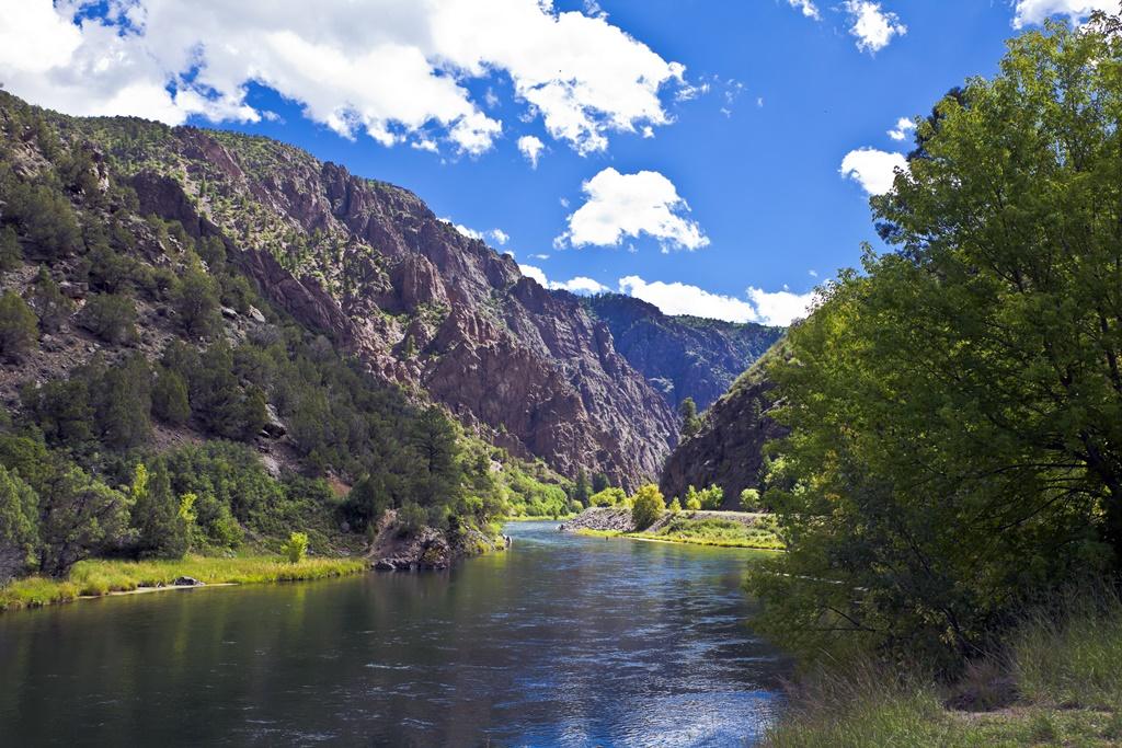 Il fiume Gunnison nel Black Canyon del Parco nazionale del Gunnison