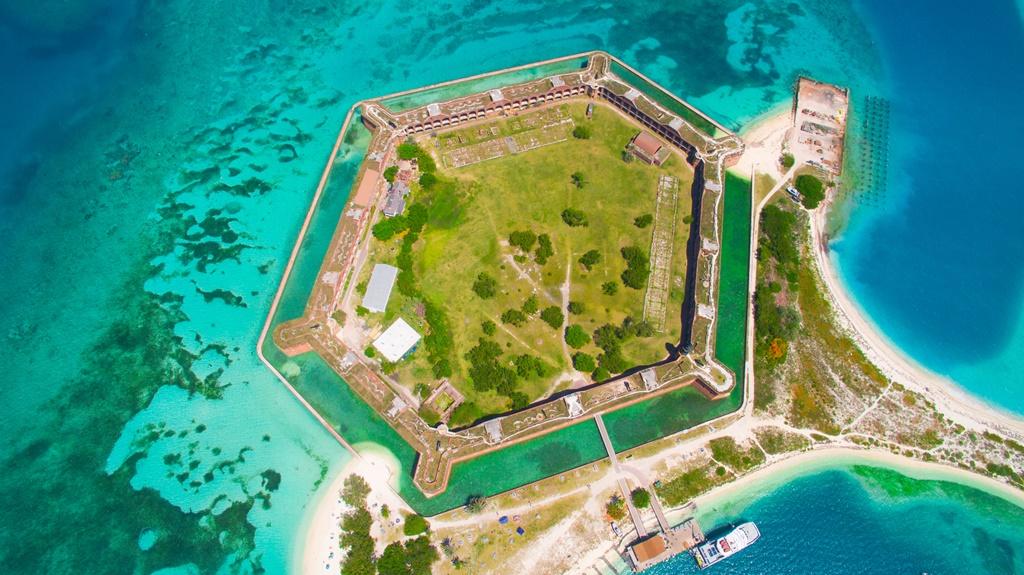 Fort Jefferson nel Parco nazionale di Dry Tortugas